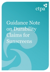 Guidance Note on Durability Claims for Sunscreens