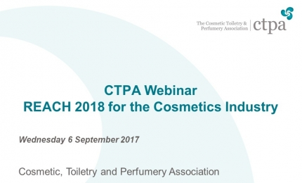 REACH 2018 for the Cosmetics Industry