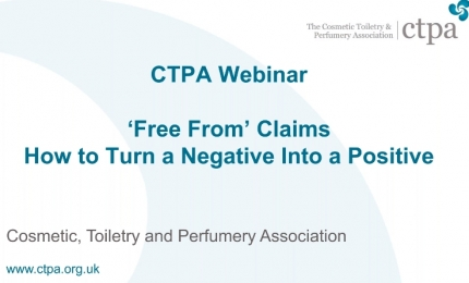 CTPA Webinar on 'Free From' Claims - How to Turn a Negative Into a Positive
